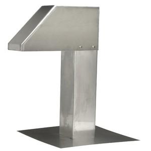 Aluminium dakdoorvoer 125x125 mm voor geïsoleerde buizen (LAC-790)