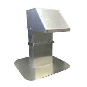 Aluminium dakdoorvoer 125x250 mm voor leidingen en kabels (LAC-792)